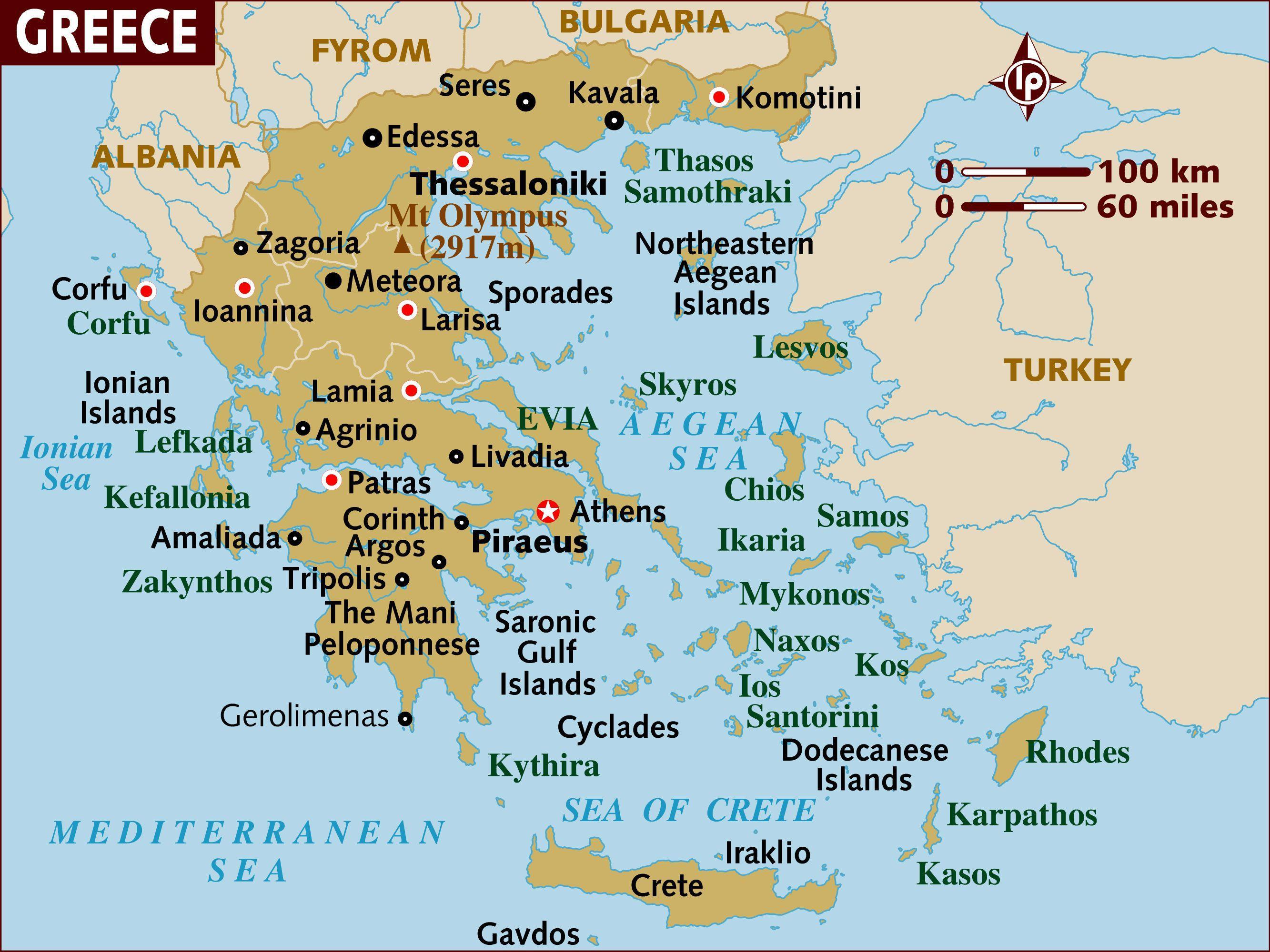 Harta Insulele Grecia Insulele Din Grecia Hartă Europa De Sud