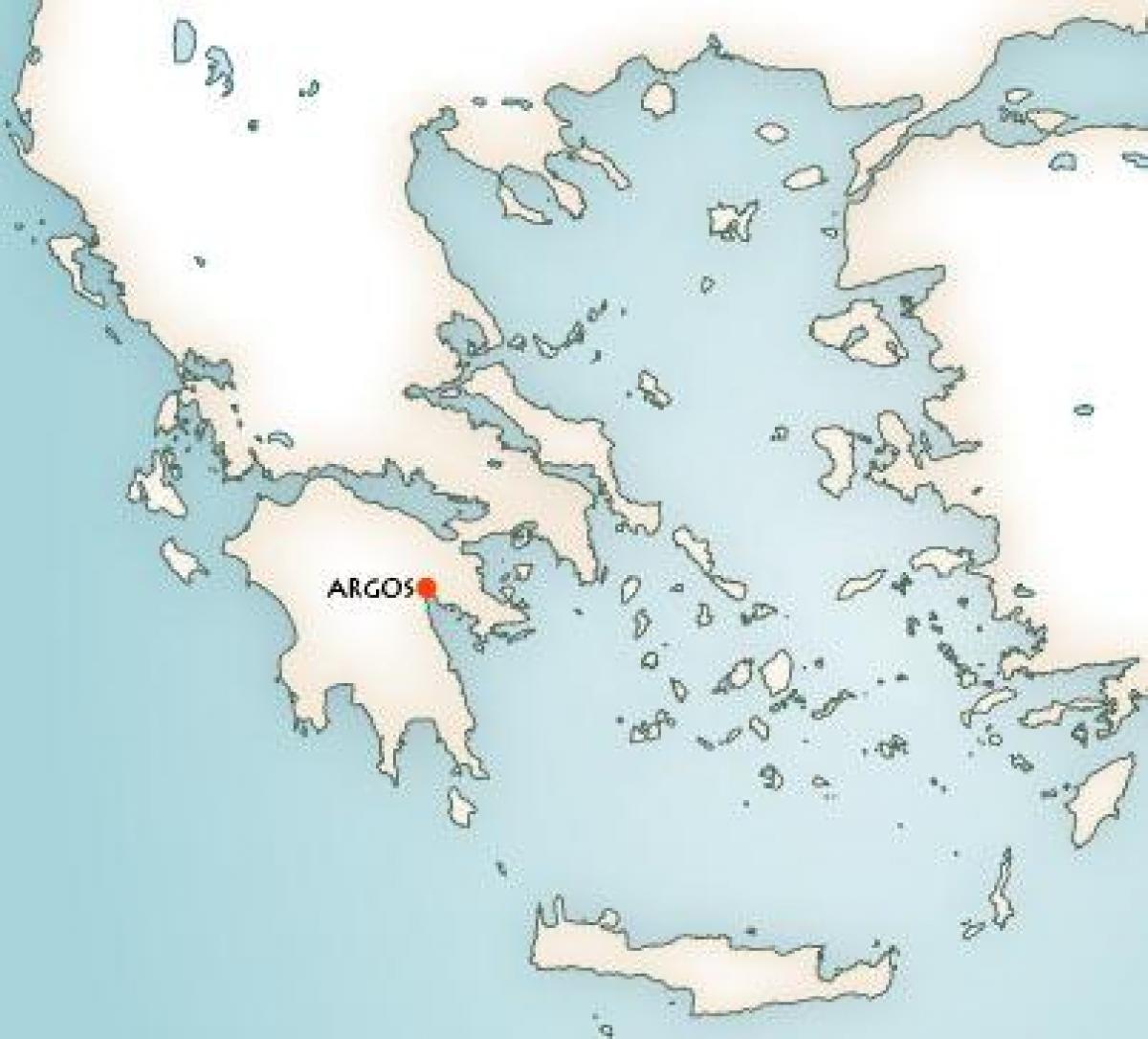 Argos Grecia Harta Hartă Din Argos Grecia Europa De Sud Europa