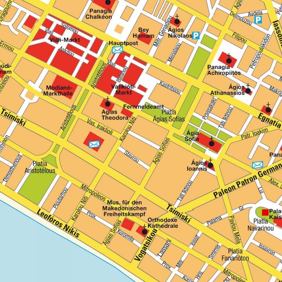 Grecia Salonic Arată Hartă Harta Grecia Salonic Europa De Sud