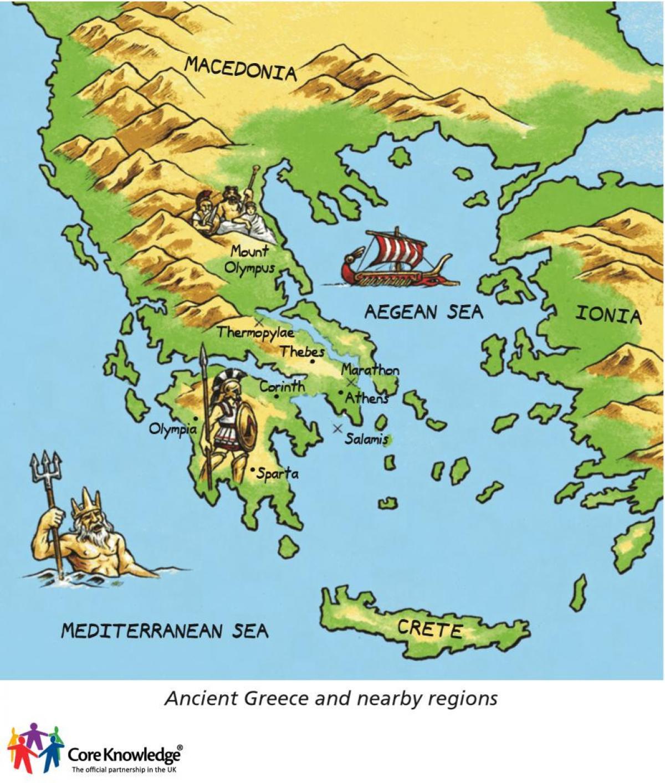 Grecia Antică Hartă Pentru Copii Harta Greciei Antice Pentru