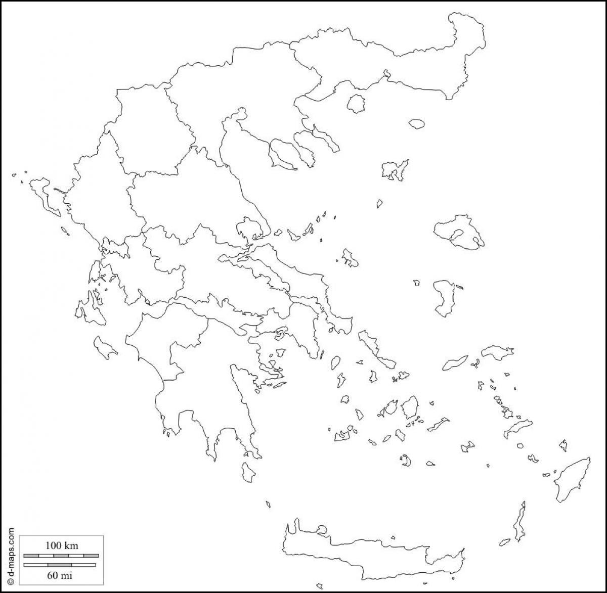 Grecia Harta Contur Harta Grecia Outline Europa De Sud Europa