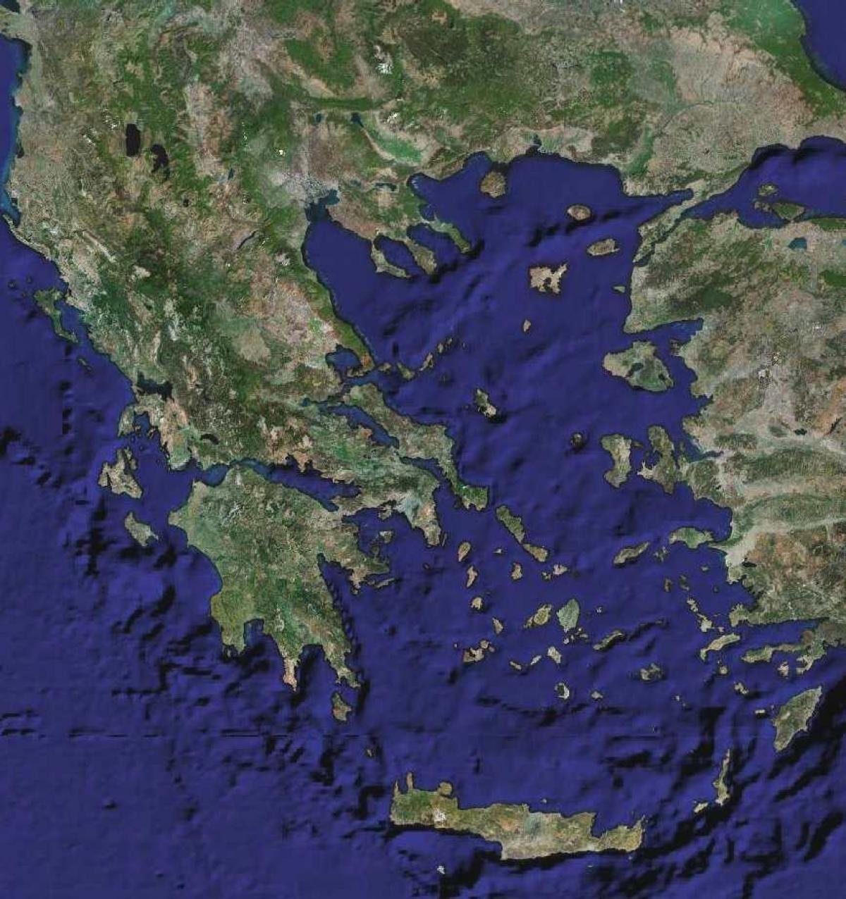 Grecia Harta Prin Satelit Harta Grecia Prin Satelit Europa De