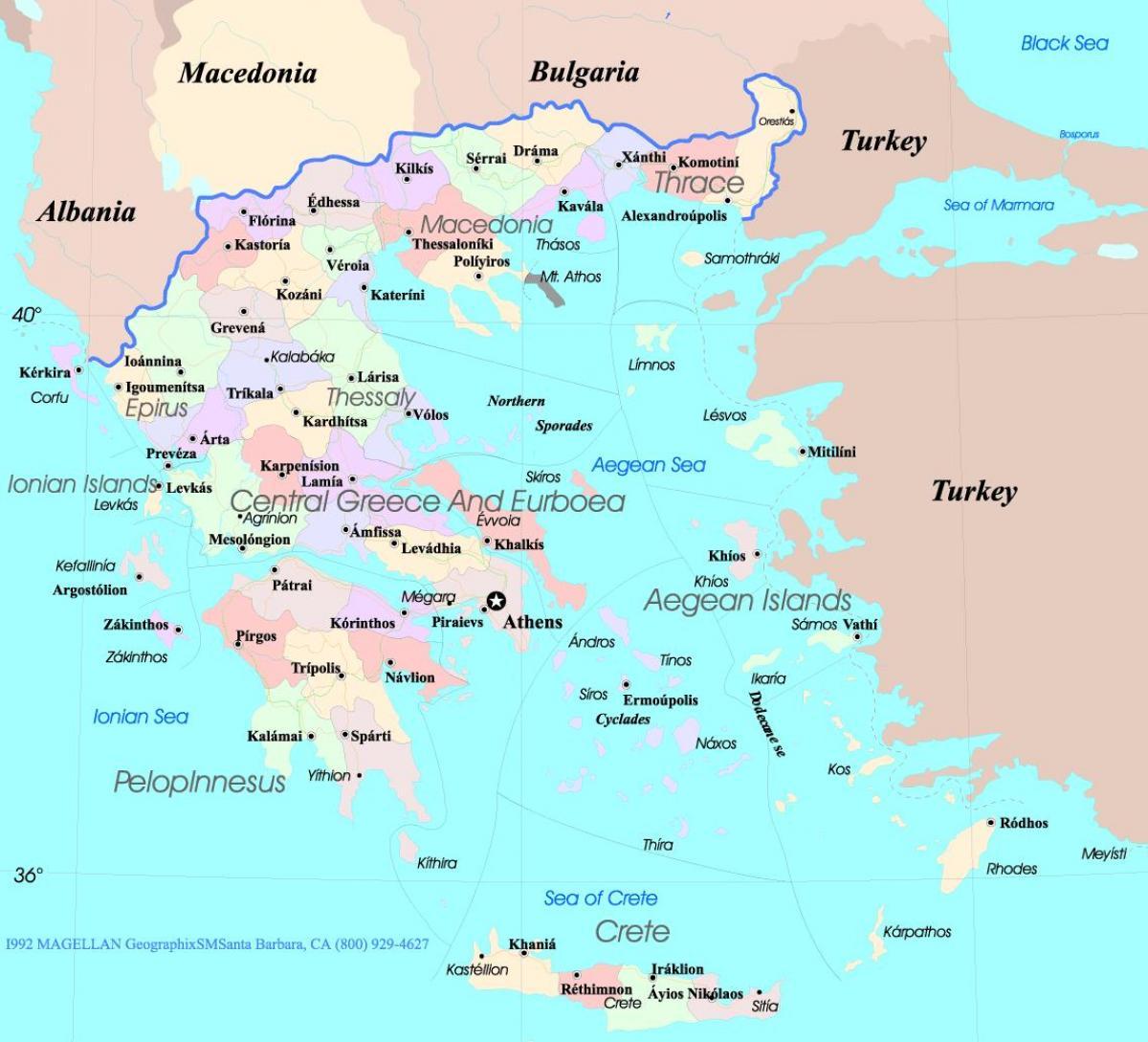 Harta Grecia și Insulele Grecia Harta Insulele Europa De Sud