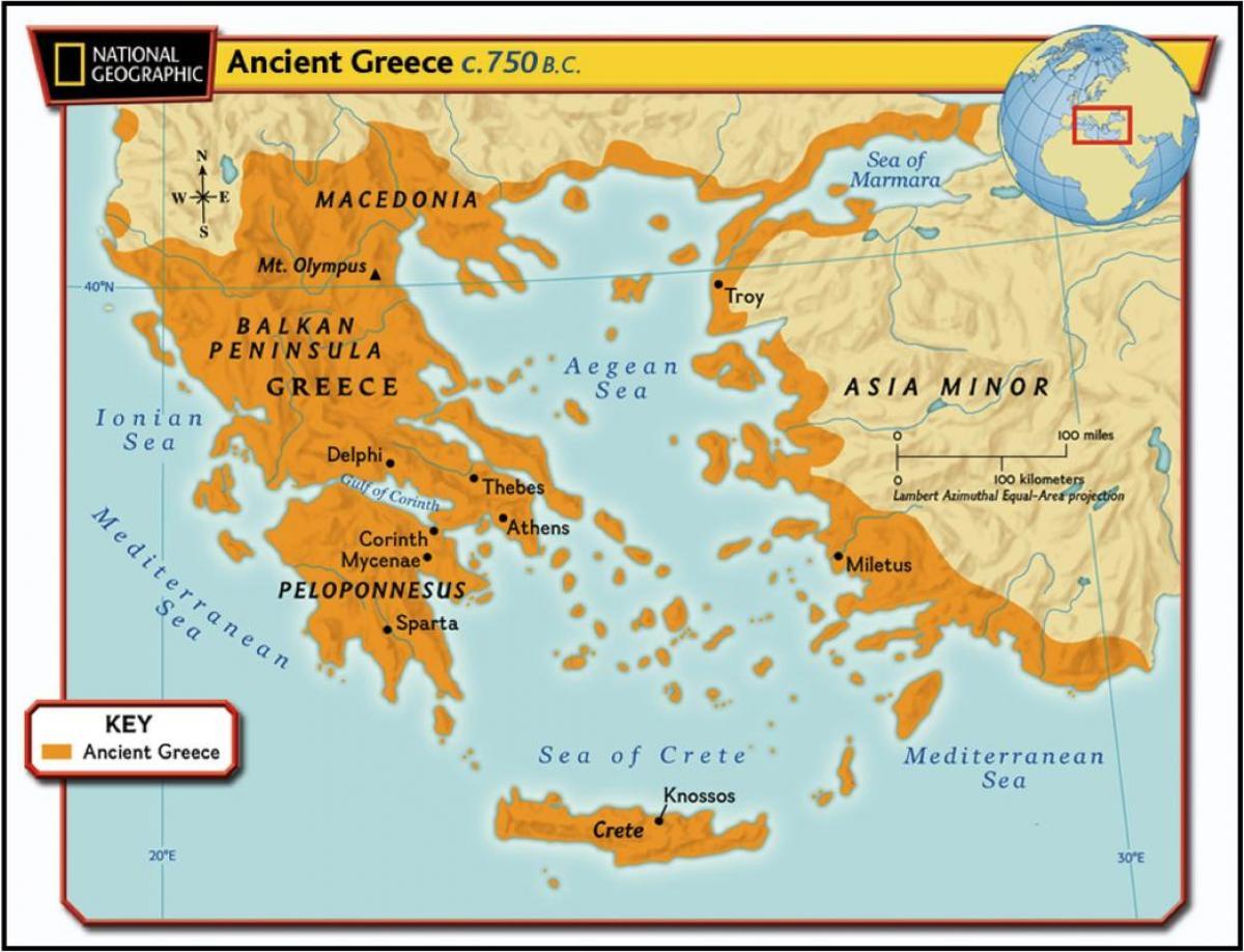 Harta Greciei Antice Harta Veche Din Grecia Europa De Sud Europa