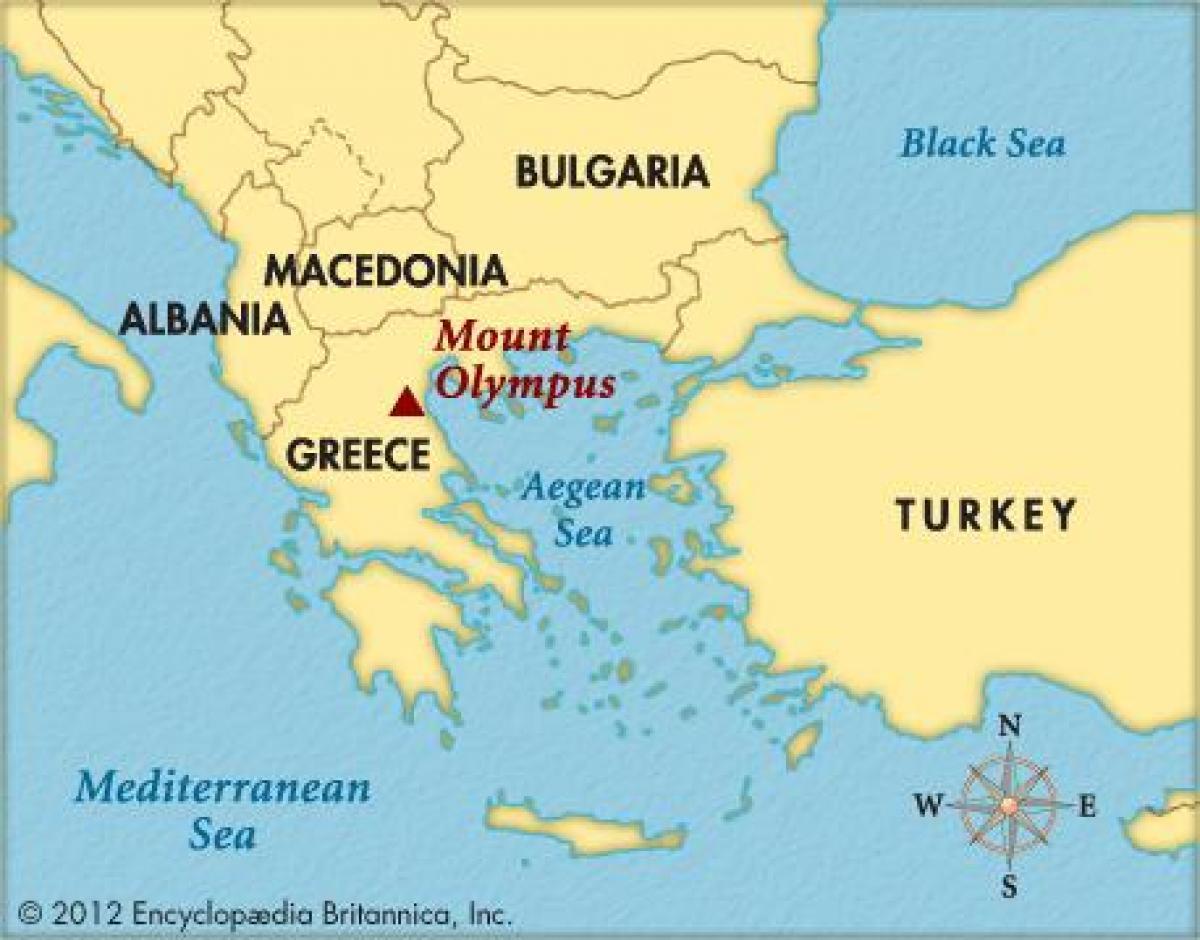 Muntele Olimp Grecia Hartă Harta De Pe Muntele Olimp Grecia