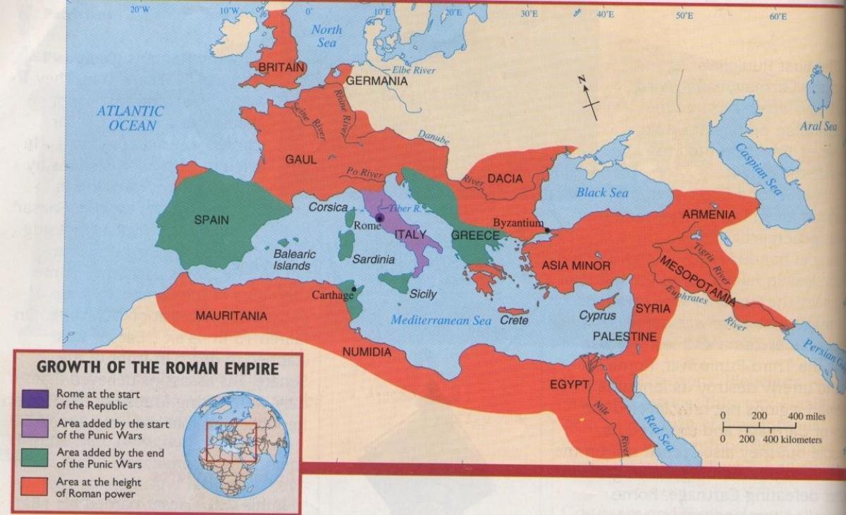 Roma antica harta